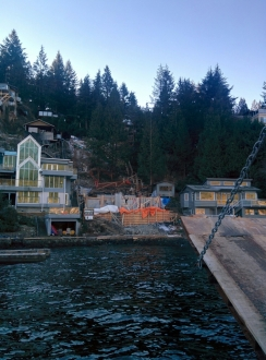 Photo Credit: Cam W. | Working off of a barge in Deep Cove.