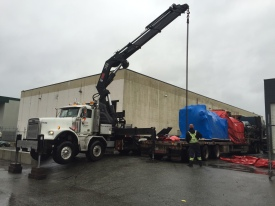 Photo Credit: Sean H. | Lifting a 17,000lbs boiler for a client.