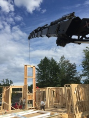 Photo Credit: Davis J. | Placing walls out in Surrey at 6pm in the evening!
