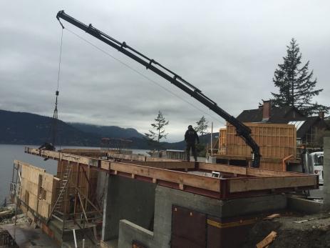 Photo Credit: Morgan B. | Moving steel beams.