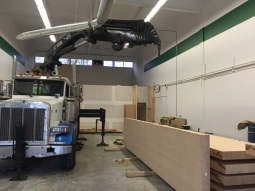 Photo Credit: Jeff   Jeff using our 422 Hiab to complete a specialty job for one of our clients.