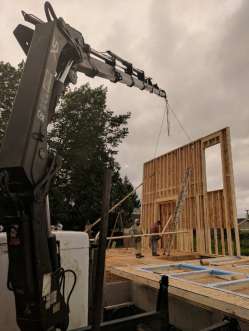 Photo Credit: Mohan V.   Helping place walls for this new house.