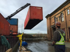 Photo Credit: Sean H | 800 Hiab moving containers