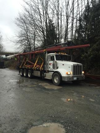 Photo Credit: Morgan B. | A 40ft load on a 20ft deck.