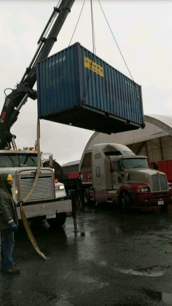 Photo Credit: Mohan V. | Moving a container for a client.